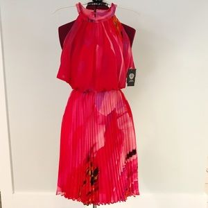 NWT flirty Vince Camuto dress with pleated skirt